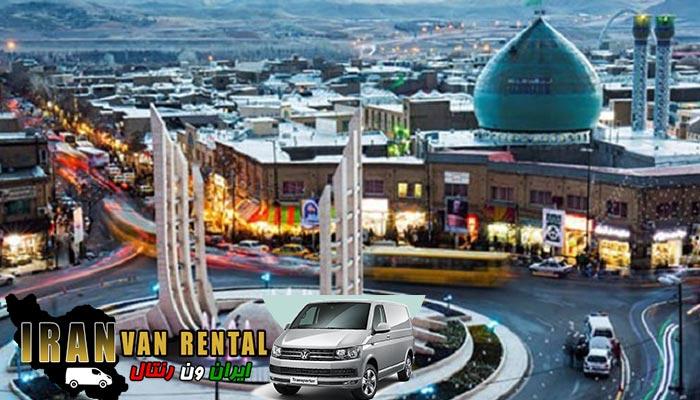اجاره ون در زنجان